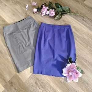 Pair of size 2 pencil skirts